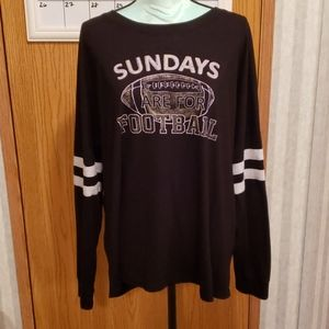 Maurices Graphic Tee Black Long Sleeve Size XXL